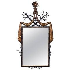 French Modern Mirror after Gilbert Poillerat