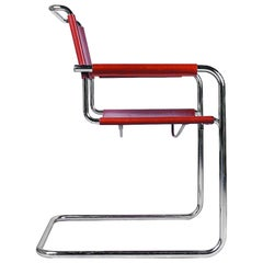 Tubular Steel Cantilever Chair by Linea Veam, 1980s
