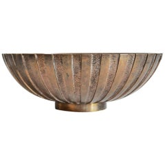 Large Bronze Bowl by Tinos Denmark, Art Deco, 1940s