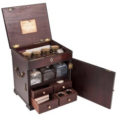 Duke of York Solid Mahogany Medicine Chest Apothecary Cabinet, circa 1800