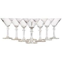 Vintage Glass Martini Stems, 1950s