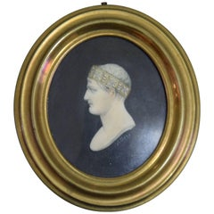 Portrait of Napoleon I Bonaparte with the Iron Crown, Ivory Miniature