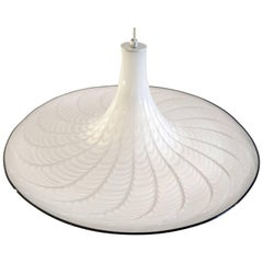 """Large Murano """"Trumpet"""" Ceiling Lamp, Italy, 1970s"""