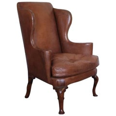 Rare Queen Anne Walnut Wing Chair