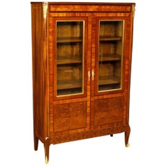 20th Century French Inlaid Vitrine in Mahogany Wood