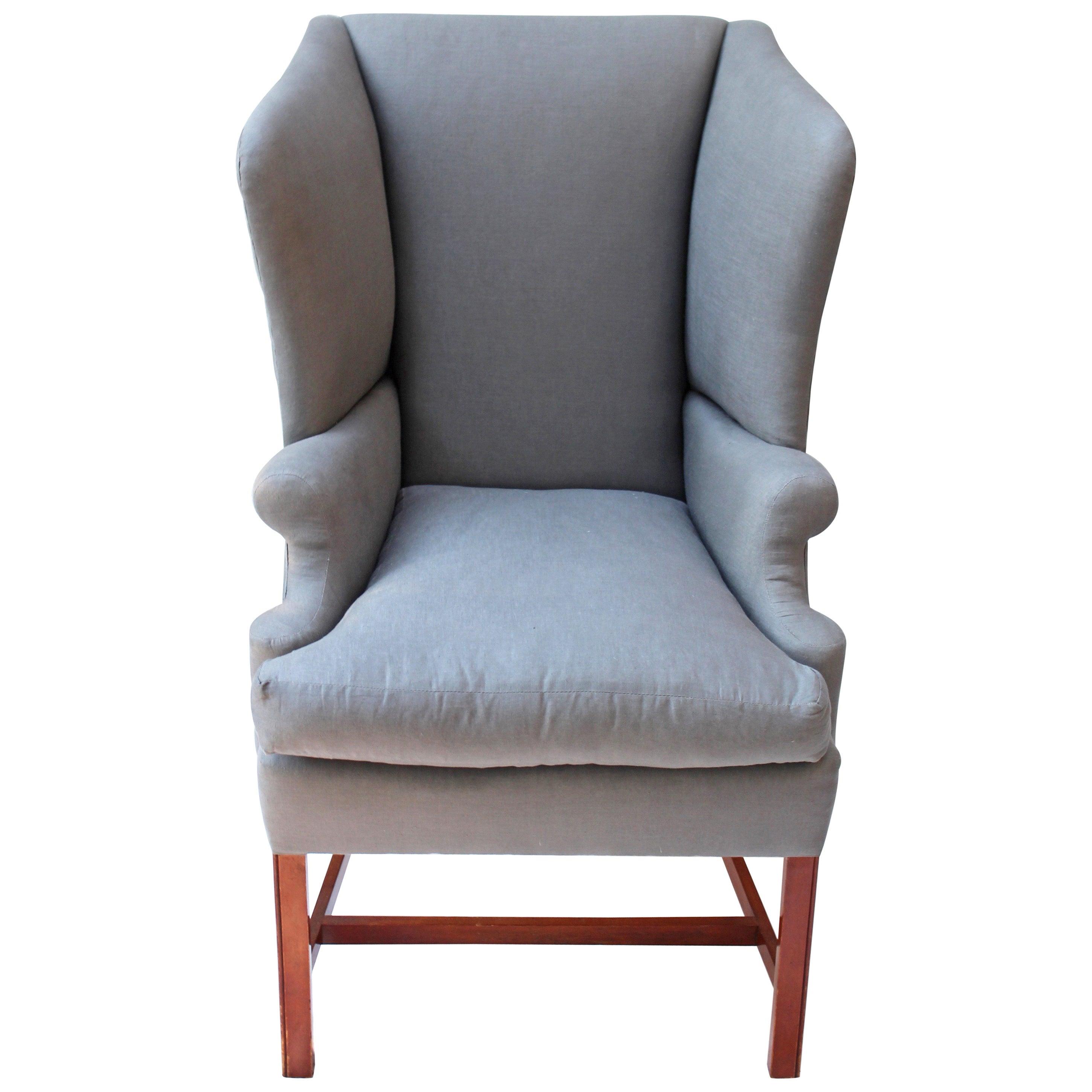 Georgian Style Wingback Chair