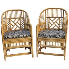 Pair of Brighton Bamboo Tub-Back Chairs