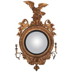 19th Century Regency Giltwood Girandole Mirror
