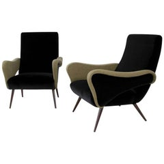 Pair of Armchairs 1950s, Italy