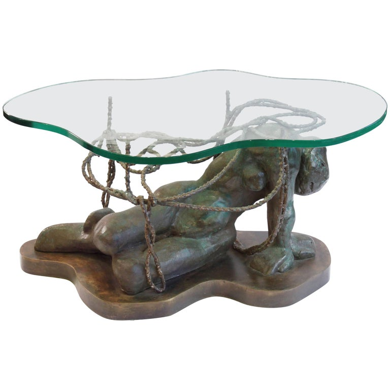 Philip And Kelvin Laverne Persephone Enslaved Sculpture Coffee Table 1970s For Sale At 1stdibs