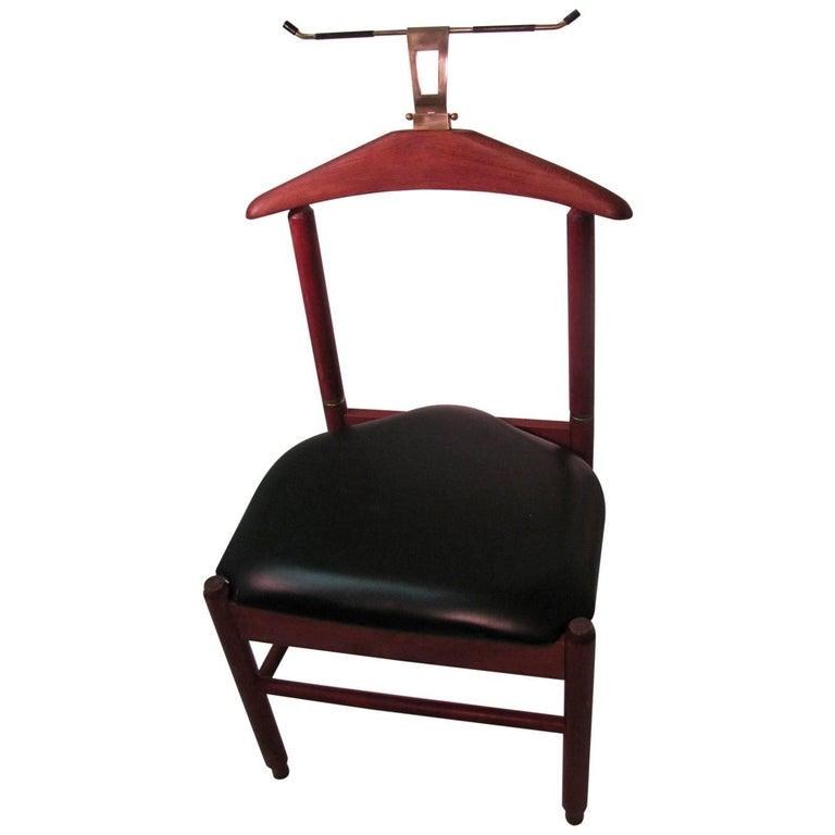 Mid-Century Modern Teak Clothes Valet Chair, Fratelli Reguitti Italy