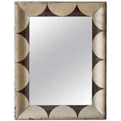 Beautifully Scalloped Painted American Folk Mirror