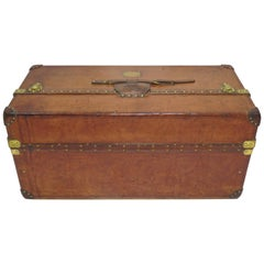 "1910s Louis Vuitton Ideal Cowhide Leather Trunk ""Malle Ideale"""