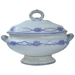 Early Victorian Blue and White Soup Tureen