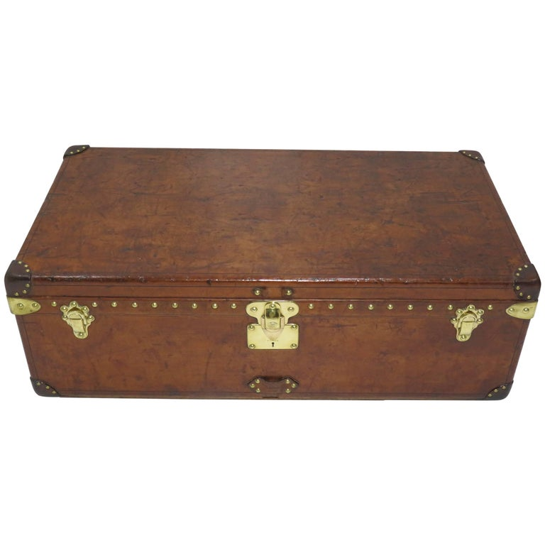 Early 20th Century Louis Vuitton Cowhide Leather Cabin Trunk