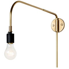 Tribeca Warren Wall Lamp by Søren Rose, Metal Wall Lighting in Brass