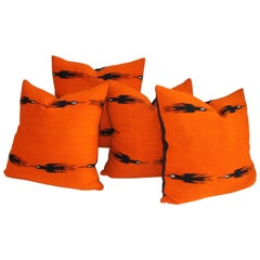 Indian Weaving Birds in Flight Collection of Four Pillows