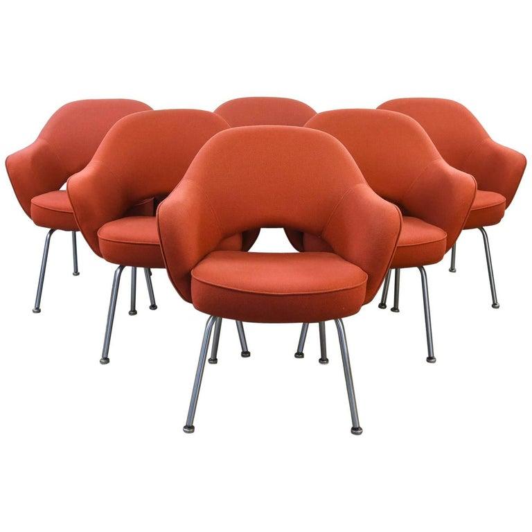 Set of Six Eero Saarinen for Knoll Executive Chairs