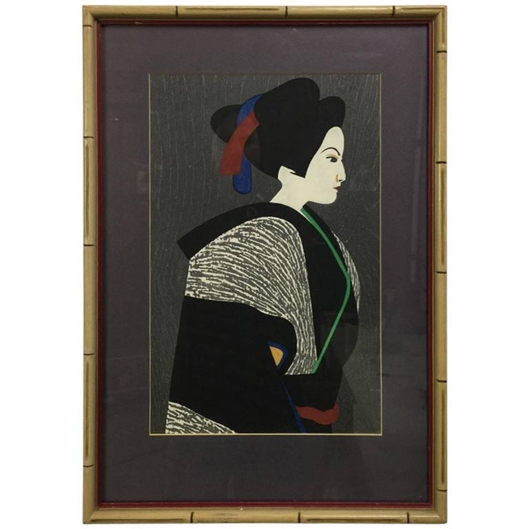 Kiyoshi Saito Japanese Woodblock Print For Sale