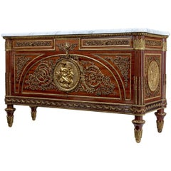 20th Century Louis XVI Influenced Commode a Vantaux