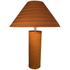 Mid-Century Modern Gregory Van Pelt Corragated Cardboard Lamp with Shade