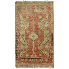 Antique Oushak Anatolian Rug Mat