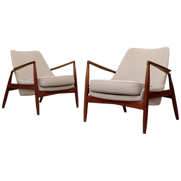 Pair of Ib Kofod-Larsen Seal/Sälen Easy Chairs, 1960s