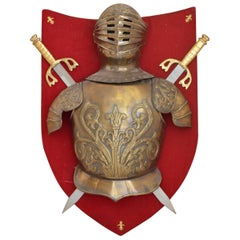 Decorative Knight's Armour on a Shield, Wall Decoration