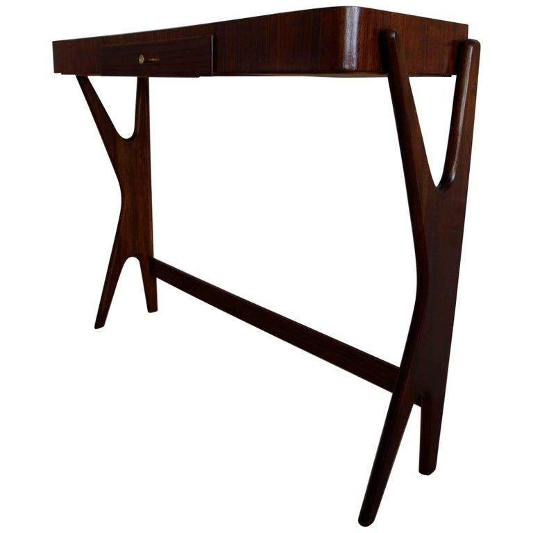 Mid-Century Modern Italian Wooden Console 1