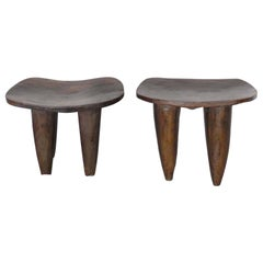 Tribal Hand-Carved Stools from Mali