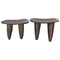Tribal Hand-Carved Stool from Mali - LEFT ONE AVAILABLE