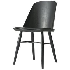 Synnes Dining Chair by Falke Svatun, Black Ash / Black Leather