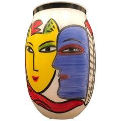 Kosta Boda Large Vase by Ulrica Hydman Vallien Danish Modern Limited Edition