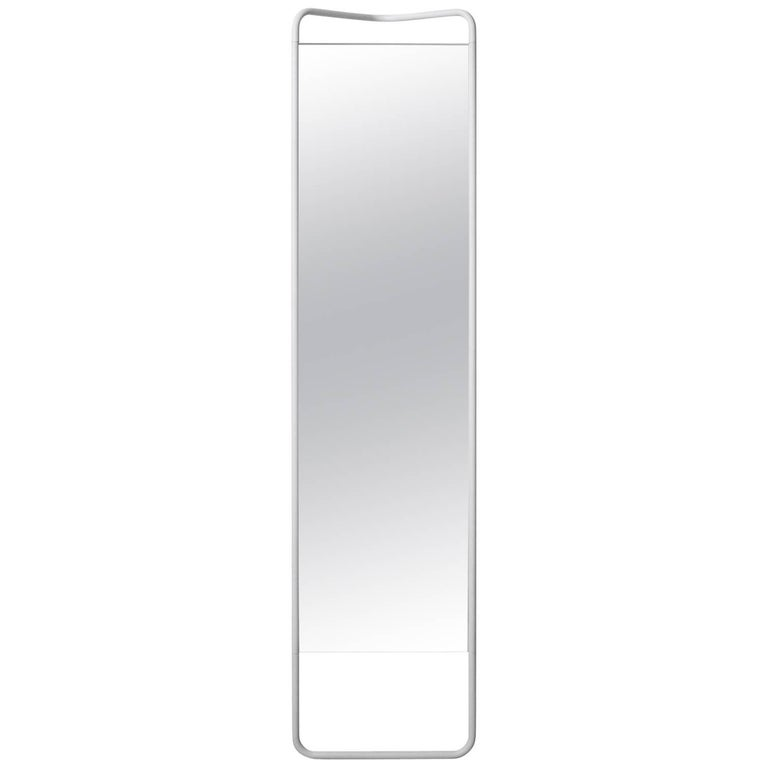 Kaschkasch Floor Mirror by Kaschkasch Cologne, White Frame For Sale