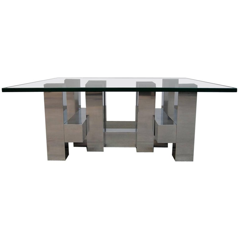 Large Architectural Coffee Table by Paul Mayen
