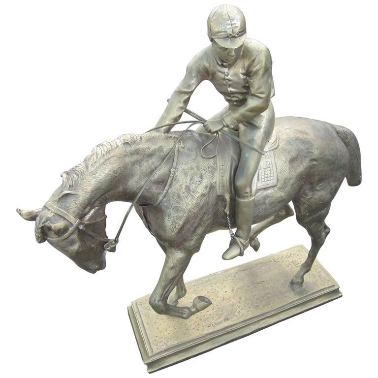 Le Grande Jockey, Isidore-Jules Bonheur, Replica Bronze Sculpture