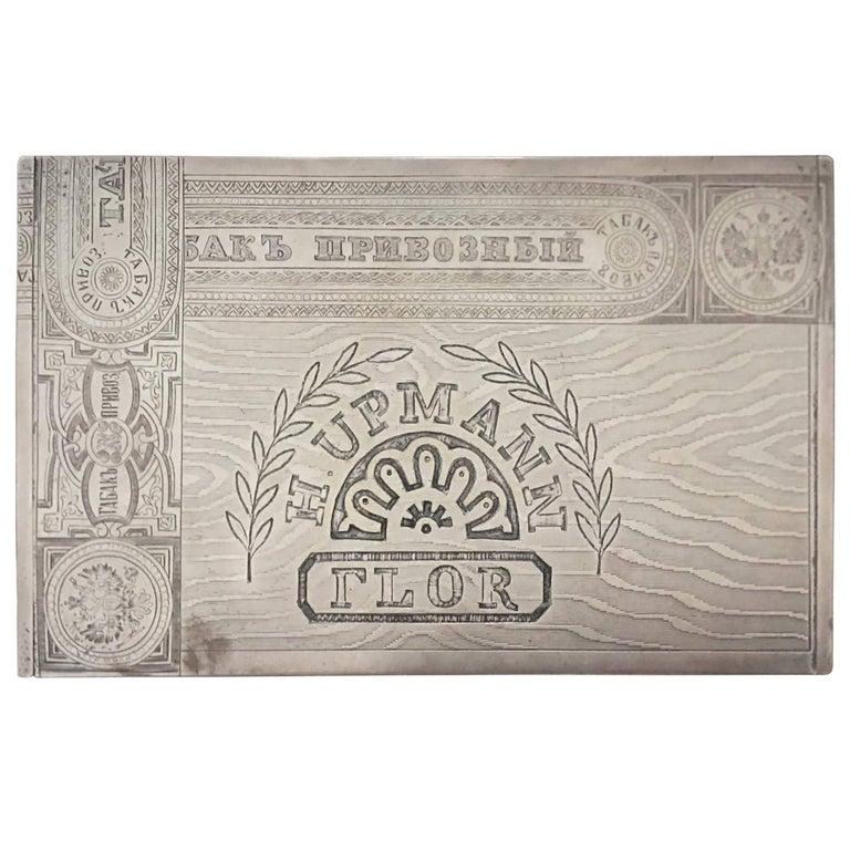 Russian Silver Cigar Box For Sale