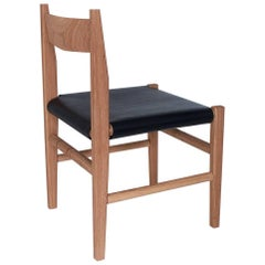 Silo Dining Chair by Fern, Wood Chair with Wood, Leather or Hickory Bark Seat
