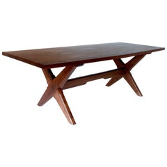 Founders Dining Table by Fern, a Modern Sawbuck Style Dining Table