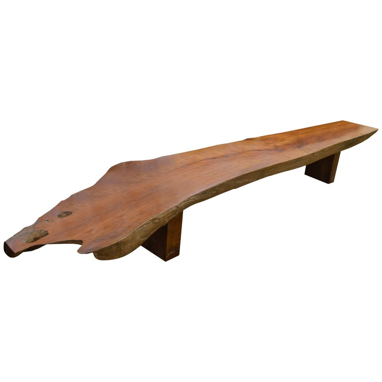 Andrianna shamaris single slab teak wood coffee table or for Wood slab coffee table