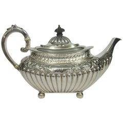 Sterling Silver Teapot, Hallmarked, Birmingham, 1895
