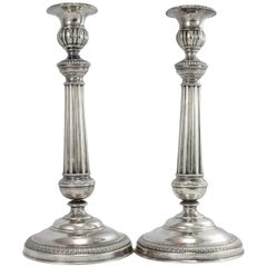 Sterling Silver Candle Sticks by Tommaso Panizza