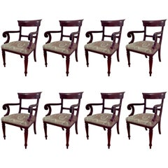 Set of Eight Victorian Style Carver Chairs