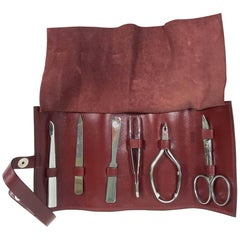 Hermès Manicure Set with Leather Case