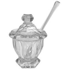 Baccarat Crystal Jam Jar with Spoon
