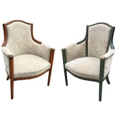 Pair of Elegant Art Deco Armchairs, circa 1925-1930