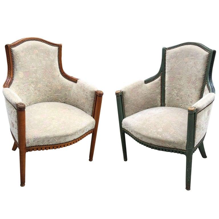 Pair of Elegant Art Deco Armchairs, circa 1925-1930