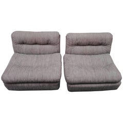 Couple Armchairs Amanta by Mario Bellini for B & B Italia, Set of Two