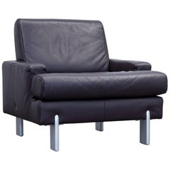 Rolf Benz Designer Armchair Leather Brown One-Seat Couch Modern