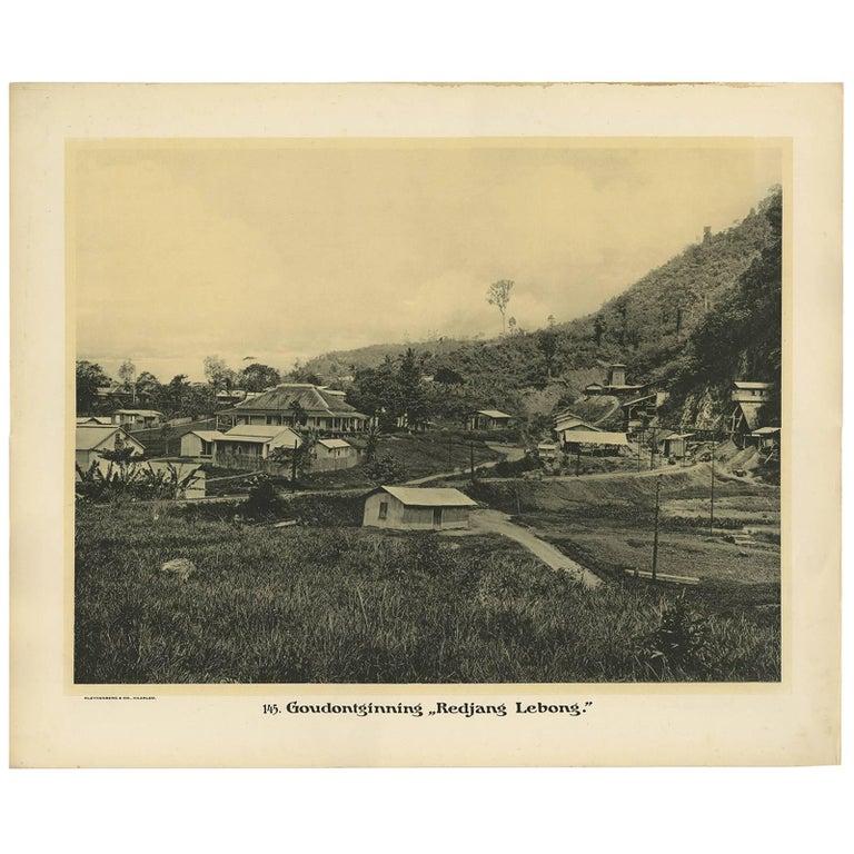 Photographic Plate Illustrating the Gold Mine 'Redjang Lebong' by Kleynenberg